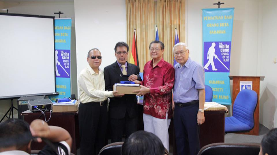 MFB donated braille devices to Sarawak Blind Society