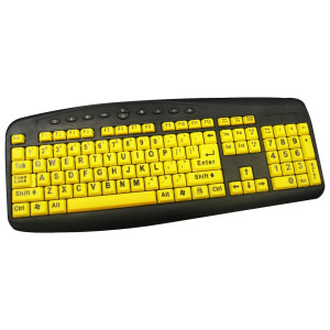 Large Print Keyboard Yellow