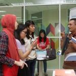 Hakimi explaining to students