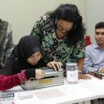 Demonstrating Braille Type Writer