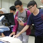 Students exploring CCTV