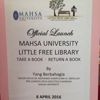 01 Little Free Library at MAHSA University launch poster