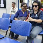 01 Disability Awareness Training Kangar Community Nurse College two people 1