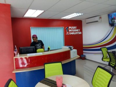 02 Installation Jaws & Magic untuk Pusat Internet 1 Malaysia counter