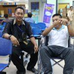 05 Disability Awareness Training Kangar Community Nurse College two people 5