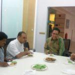06 Disability Awareness Talk at Nottingham University Semenyih Malaysia, Rahim at table