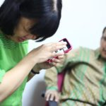 11 hands-on training at University of Science 2nd trainee smartphone 3