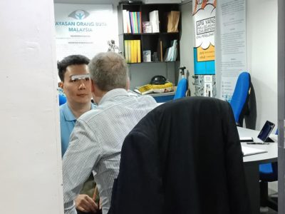 Demonstration on low vision equipment at Malaysian Foundation For The Blind1