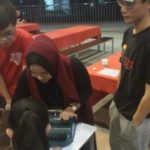 Demonstration on how to use braille machine